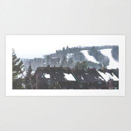 Winter Landscape - Hidden Valley Chalets Art Print