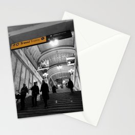 Milano Station Black and White Photography Stationery Cards