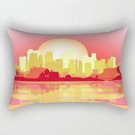 City At The Dusk Rectangular Pillow