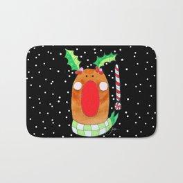 Red Nose Reindeer Bath Mat