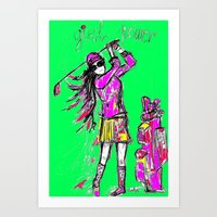girl power Art Prints featuring Girl Power by sladja