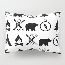 Outdoor Icon Pattern Pillow Sham