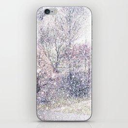 Snow in early fall(2). iPhone Skin