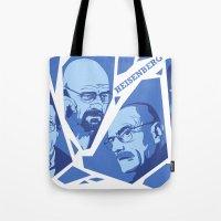 heisenberg Tote Bags featuring Heisenberg by El LoCo