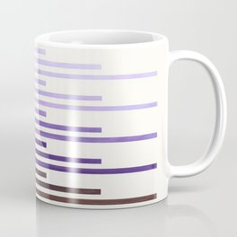 Purple Minimalist Abstract Mid Century Modern Staggered Thin Stripes Watercolor Painting Coffee Mug