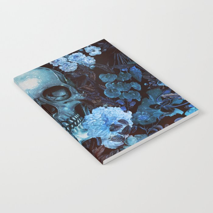 Skull and Flowers Notebook