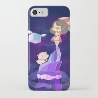 puppycat iPhone & iPod Cases featuring Bee and  Puppycat by drawnbyhanna