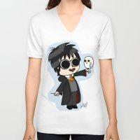 harry V-neck T-shirts featuring Harry by kaylieghkartoons