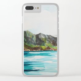 Napali Coast Dreaming Clear iPhone Case
