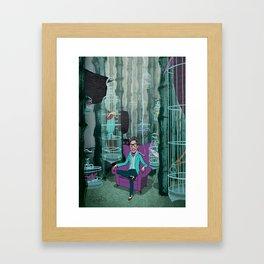 Bamboo Birdman Framed Art Print
