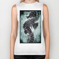 sea horse Biker Tanks featuring Sea Horse by Bella Blue Photography