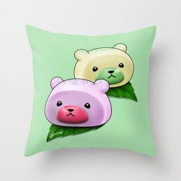 Mochi Bears Throw Pillow