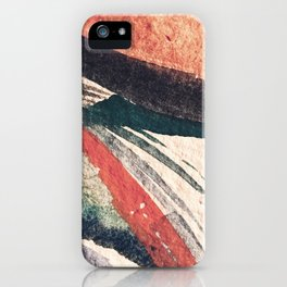 Thunder&Lightning {3}: Minimal watercolor abstract in pinks, blues, and greens iPhone Case