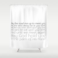 irish Shower Curtains featuring Irish Blessing by this is team kismet