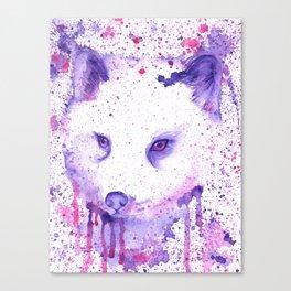 Purple Polarfox Canvas Print