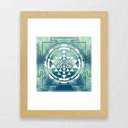 Sri Yantra Sky Mandala Framed Art Print