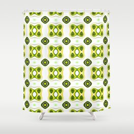 Fractal Design - Froggy Green Shower Curtain