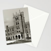 Northern Illinois University Castle - Black and White Stationery Cards