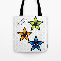 kingdom hearts Tote Bags featuring Kingdom Hearts - Wayfinders by Lunil
