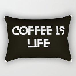 Coffee is life motto Rectangular Pillow