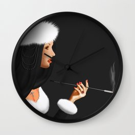 Lady Ninotschka Wall Clock
