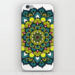 Emerald Mandala iPhone Skin