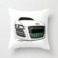 audi Throw Pillows featuring Zaklassic - Z-06 by Zak Ashton