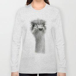Cute Ostrich Expression SK055 Long Sleeve T-shirt