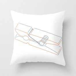 just clothespin  Throw Pillow