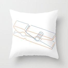 just clothespin  Throw Pillow