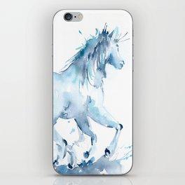 Watercolor Horse Galloping iPhone Skin