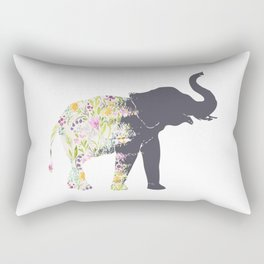 Spring Elephant Rectangular Pillow