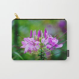 Purple Spider Flower Carry-All Pouch