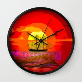sunset moby Wall Clock