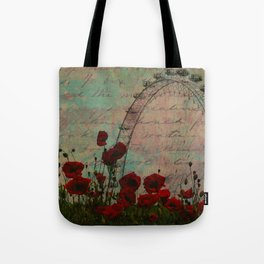 Poppies and Pink Skies Tote Bag