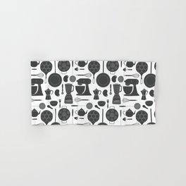 Kitchen Tools (black on white) Hand & Bath Towel