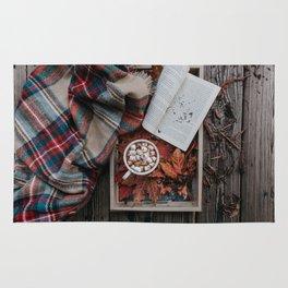 Marshmallows, Hot Chocolate, Autumn Rug