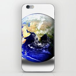 Earth Globe East Shadow iPhone Skin