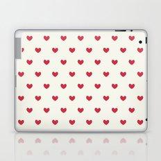 Cute Red Hearts Pattern Laptop & iPad Skin