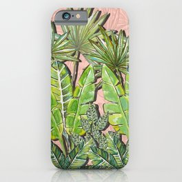 Rose Jungle_Hand Painted watercolour & ink iPhone Case