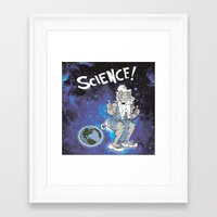 science Framed Art Prints featuring SCIENCE! by FoodStamp Davis
