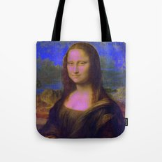 Mona Lisa's Haze (blue) Tote Bag