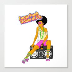 Roller Disco Canvas Print