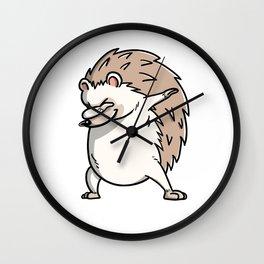 Funny Dabbing Hedgehog Pet Dab Dance Wall Clock