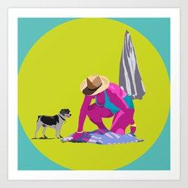 Señora y perro Art Print