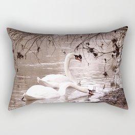 Swans friendship Rectangular Pillow