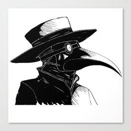 Plague Doctor Canvas Print