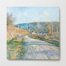 "Claude Monet ""The Road to Vétheuil"" (1879) Metal Print"