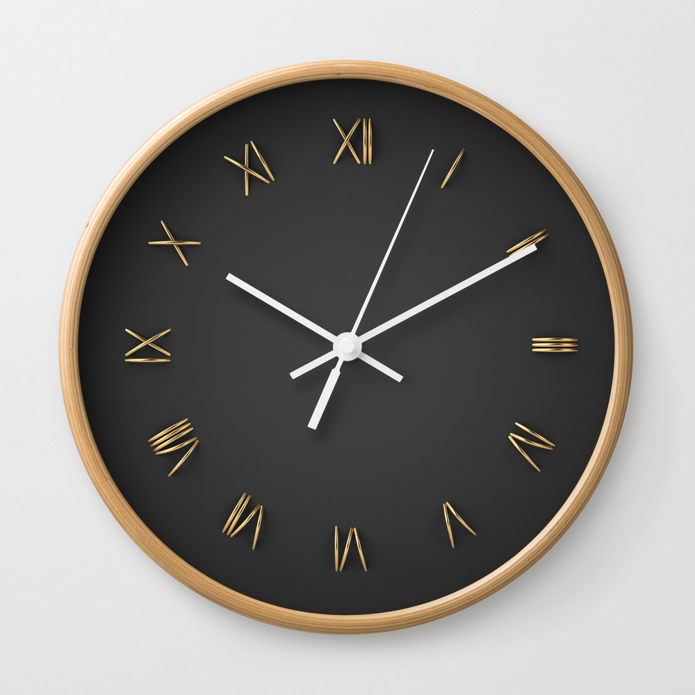 Time Is Gold Wall Clock by Rzvn
