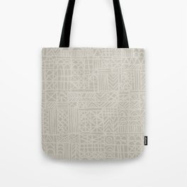 Abstract Pattern in Natural Tote Bag